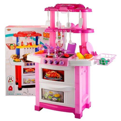 Кухня Yako Как у мамы YTM7116-2 розовый/белый