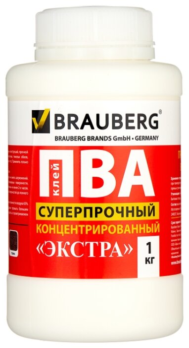 BRAUBERG Клей ПВА суперпрочный концентрированный Экстра 600984 1 кг