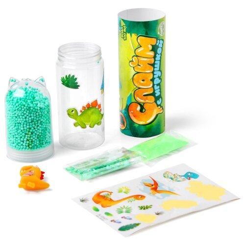 Купить ШКОЛА ТАЛАНТОВ Набор для творчества Слайм с игрушкой Динозаврик 4695642, Школа талантов, Изготовление свечей