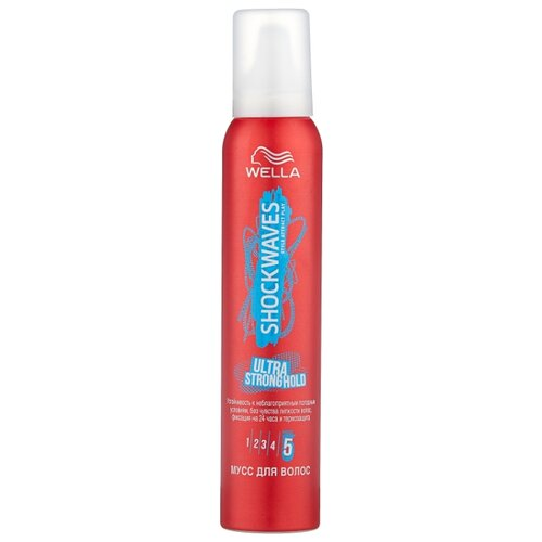Wella Shockwaves мусс Ultra strong hold, 200 мл