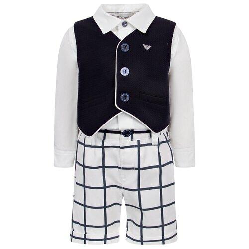 Комплект одежды EMPORIO ARMANI размер 98, белый/синий комплект emporio armani emporio armani em598emwkn53