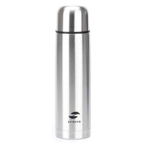 Классический термос STINGER HB-1000, 1 л серебристый