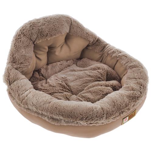 Лежак для собак и кошек Зоогурман Президент 45х45х20 см бежевый