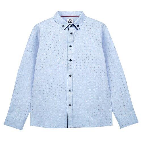Купить Рубашка playToday размер 164, голубой, Рубашки