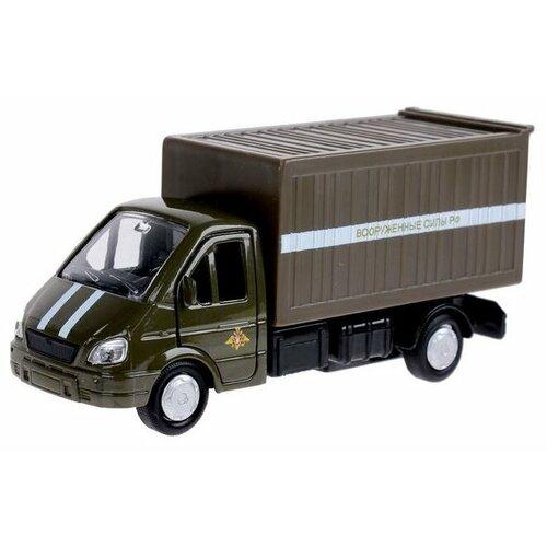 Купить Фургон ТЕХНОПАРК ГАЗель Вооруженные силы (SB-16-42-K3-WB) 12 см коричневый/зеленый, Машинки и техника