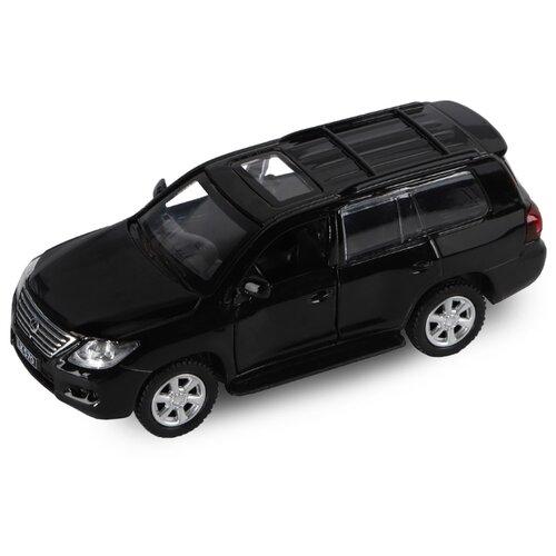 Фото - Легковой автомобиль Автопанорама Lexus LX570 (J12278/JB1200169) 1:43 11 см черный внедорожник hoffmann lexus lx570 102779 1 32 18 см черный