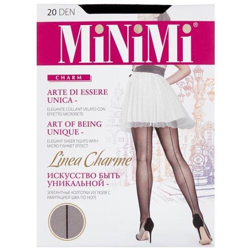 Колготки MiNiMi Linea Charme 20 den, размер 3-M, nero (черный) колготки minimi lanacotone 180 den размер 3 m nero черный