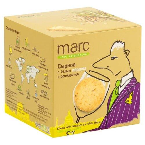 Печенье Marc 100% натурально Сырное с белым перцем и розмарином, 150 г