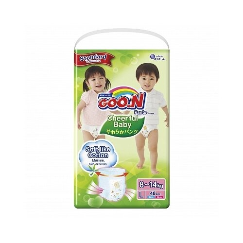 Купить Goo.N трусики Сheerful Baby L (8-14 кг), 48 шт., Подгузники