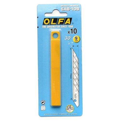 Набор сменных лезвий OLFA OL-SAB-10B (10 шт.) набор сменных лезвий olfa ol lb 10b 10 шт