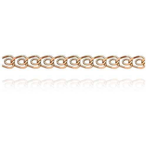 АДАМАС Цепь из золота плетения Сердце ЦС140А2-А51, 50 см, 4.17 г