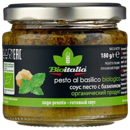 Фото - Соус Bioitalia Песто с базиликом, 180 г соус песто этна 180 г