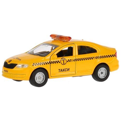 Купить Легковой автомобиль ТЕХНОПАРК Skoda Rapid Такси (SB-18-22-SR-T-WB) 12 см желтый, Машинки и техника