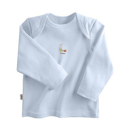 Купить Лонгслив Наша мама, размер 68, голубой, Футболки и рубашки