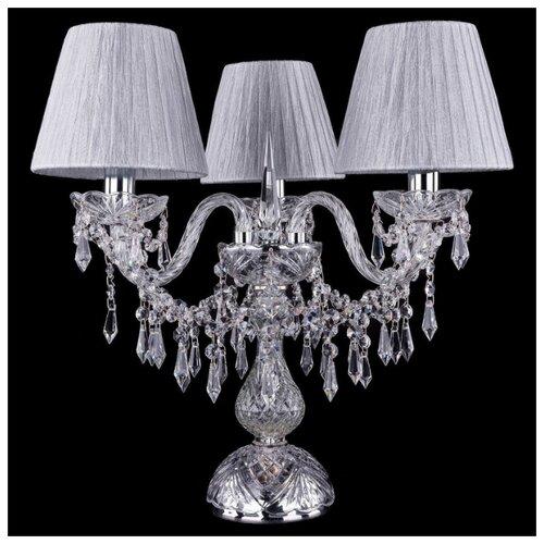 Настольная лампа Bohemia Ivele Crystal 1403L/3/141-39 Ni SH6-160, 120 Вт настольная лампа bohemia ivele 7003 1 33 gw sh2 160