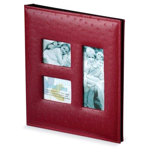 Фотоальбом BRAUBERG обложка под кожу страуса (390692), 120 фото, для формата 18 х 24, красный
