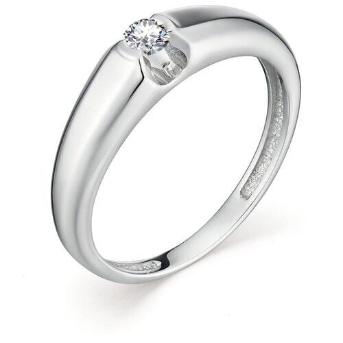 АЛЬКОР Кольцо с 1 бриллиантом из белого золота 12729-200, размер 17 алькор кольцо с 1 бриллиантом из белого золота 13299 200 размер 17