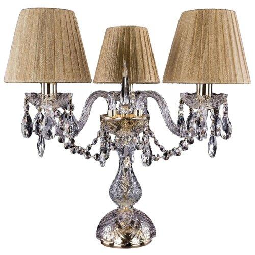 Настольная лампа Bohemia Ivele Crystal 1406L/3/141-39/G/SH7-160, 120 Вт настольная лампа bohemia ivele 7003 1 33 gw sh2 160