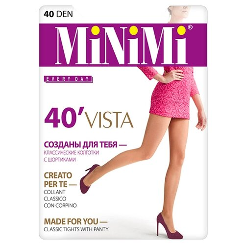 Колготки MiNiMi Vista 40 den, размер 4-L, daino (бежевый) колготки minimi body form 40 den размер 4 l daino бежевый