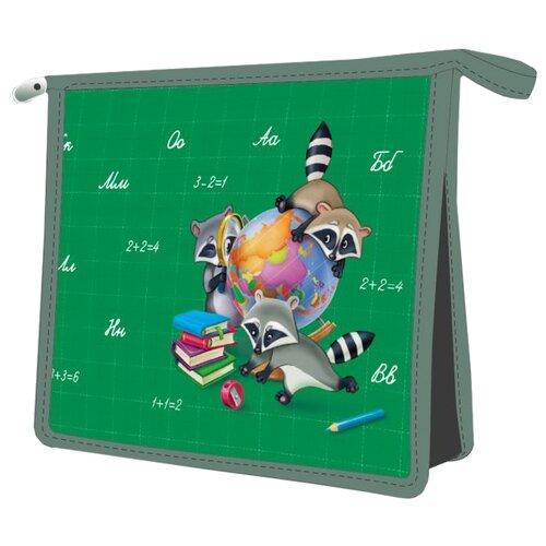 Феникс+ Папка для тетрадей Озорные еноты А5 (48187) зеленый