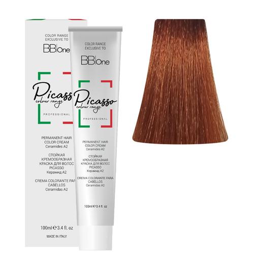BB One Picasso Colour Range Перманентная крем-краска, 100 мл, 7.34 золотисто-медный блонд hydreane bb крем