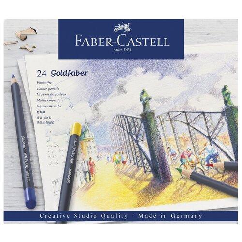 Купить Faber-Castell Карандаши цветные Goldfaber, 24 цвета (114724), Цветные карандаши