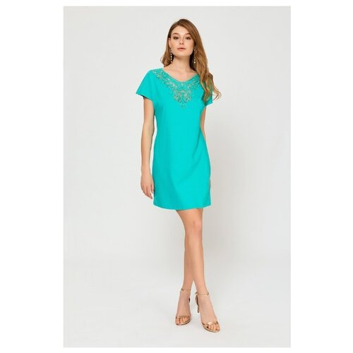 Пляжное платье Laete размер M(46) бирюзово-зеленый