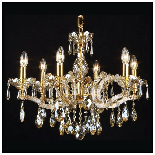 цена на Люстра Natali Kovaltseva Imperial 11005/6C GOLD, BRANDY, E14, 360 Вт