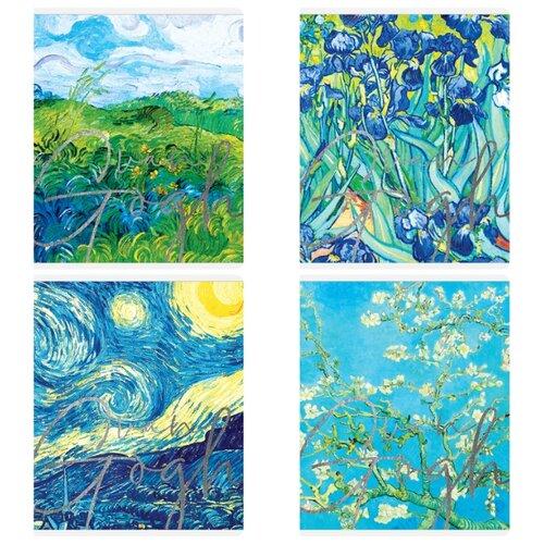 Купить Greenwich Line Упаковка тетрадей Van Gogh N5c48-26454, 5 шт./4 дизайна, клетка, 48 л., Тетради