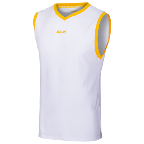 Майка Jogel JBT-1020 размер XS, белый/желтый платье oodji ultra цвет красный белый 14001071 13 46148 4512s размер xs 42 170