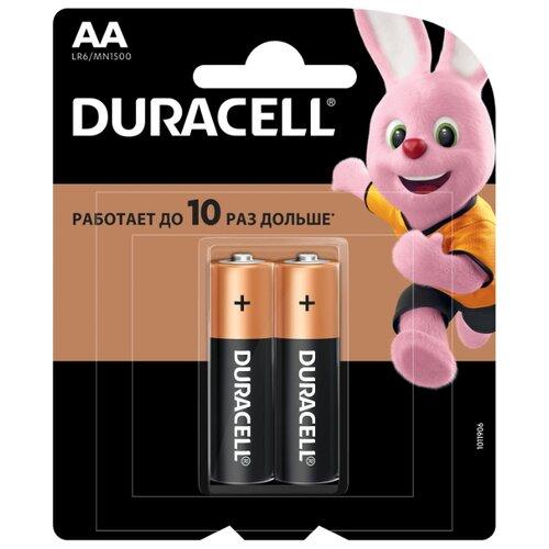 Фото - Батарейка Duracell Basic AA, 2 шт. батарейка duracell basic aa 18 шт