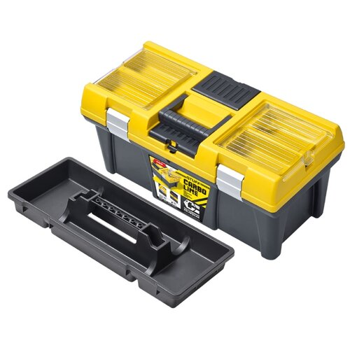 Ящик с органайзером Patrol STUFF Semi Profi 20 Carbo 52.5x25.6x24.6 см желтый ящик с органайзером stanley jumbo 1 92 908 31 4x56 2x30 см желтый черный