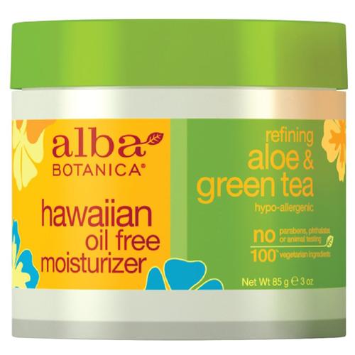 Alba Botanica Hawaiian oil free moisturizer aloe & green tea Крем для лица увлажняющий Алое и Зеленый чай, 85 г очищающее средство alba botanica