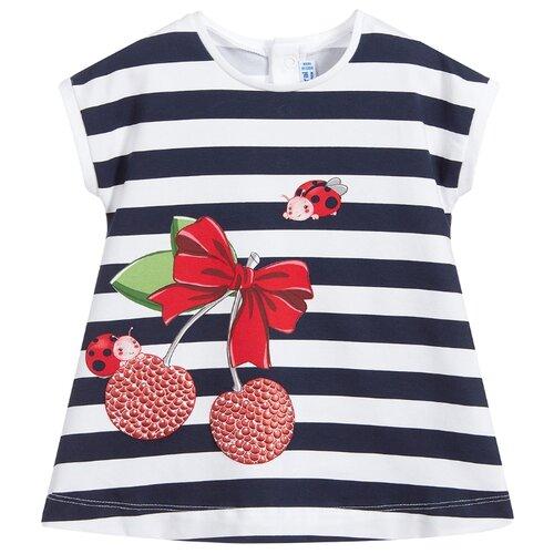 Купить Платье Mayoral размер 80, белый/синий/полоска, Платья и юбки