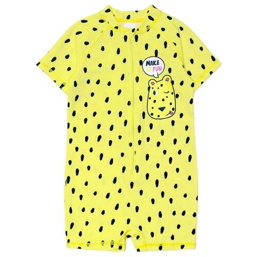 Купить Комбинезон crockid размер 86-92, лимон/леопард, Белье