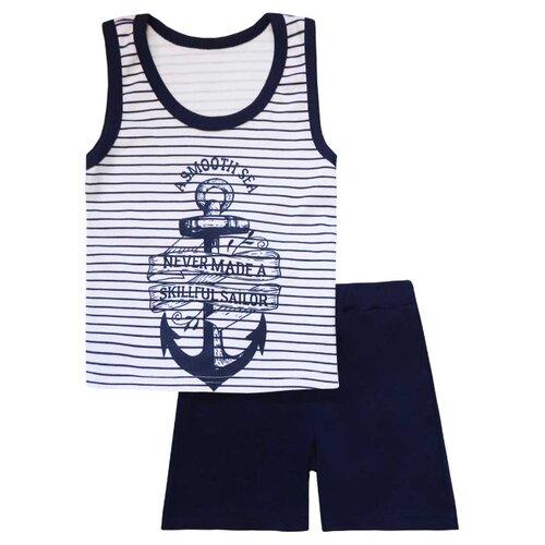Пижама KotMarKot размер 116, белый/синий