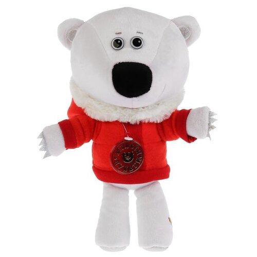Мягкая игрушка Мульти-Пульти Ми-ми-мишки Медвежонок Белая тучка в зимней одежде 22 см, муз. чип игрушка мягкая мульти пульти ми ми мишки медвежонок кеша 25 см музыкальный