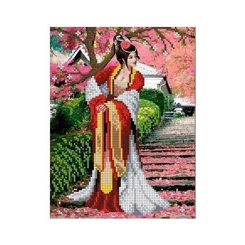 Купить Японский сад Рисунок на ткани 25х19 Каролинка ТКБЛ 4010, Канва