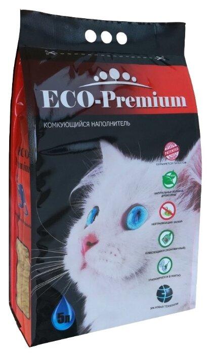 ECO-PremiumGreen комкующийся древесный наполнитель с гранулами зеленого цвета -5л