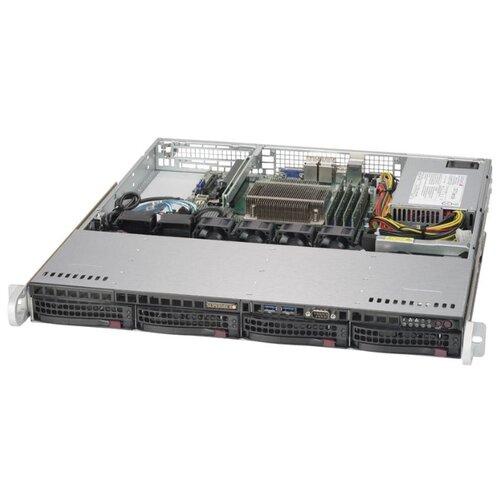 Сервер Supermicro SuperServer 5019S-M2 без процессора/без ОЗУ/без накопителей/количество отсеков 3.5 hot swap: 4/1 x 350 Вт сервер supermicro superserver 5019s wr без процессора без озу без накопителей количество отсеков 3 5 hot swap 4 2 x 500 вт
