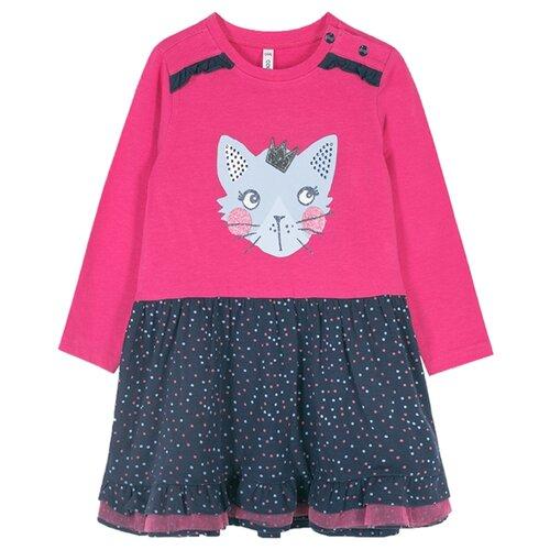 Платье COCCODRILLO LITTLE REBEL размер 80, розовый/черный