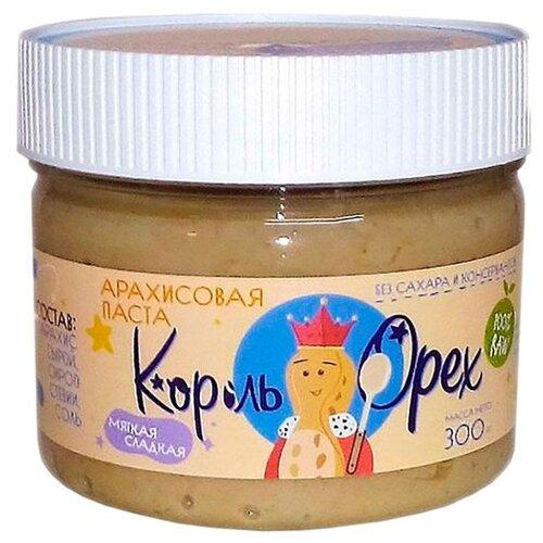 Король Орех Арахисовая паста Мягкая сладкая RAW 300 г король орех паста крем ореховая из фундука 200 г