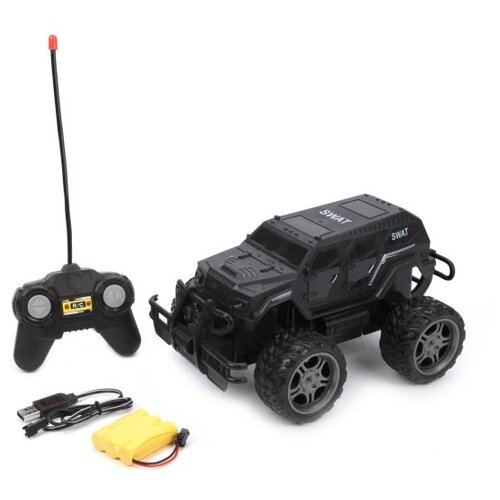 Купить Машина р/у Наша Игрушка Полиция, 4 канала, свет, аккумулятор, USB шнур, Наша игрушка, Радиоуправляемые игрушки