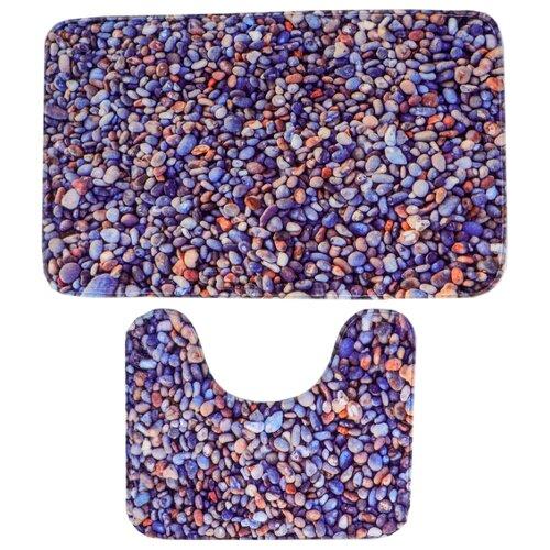 Комплект ковриков Доляна 2355970, 50х80, 40х50 см фиолетовый