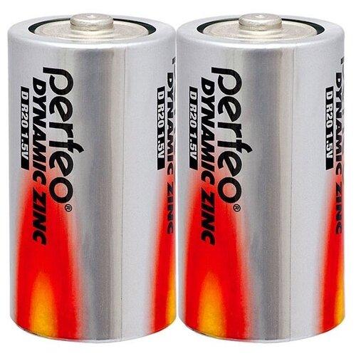 Фото - Батарейка Perfeo Dynamic Zinc D, 2 шт. батарейка defender алкалиновая d lr20 2 шт