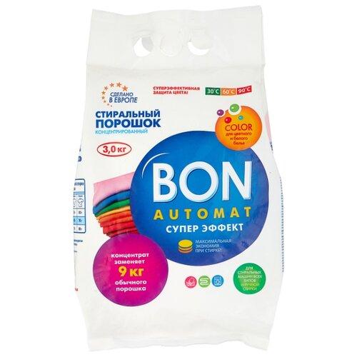 Стиральный порошок BON Супер эффект (автомат) 3 кг пластиковый пакет стиральный порошок sandokkaebi se plus 3 3 кг пластиковый пакет