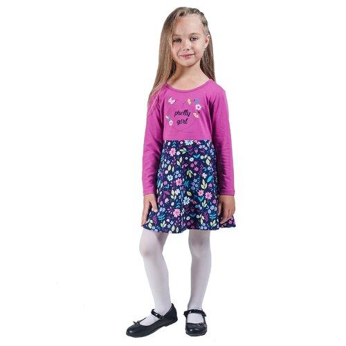 Платье Belka размер 116, лиловый/синий