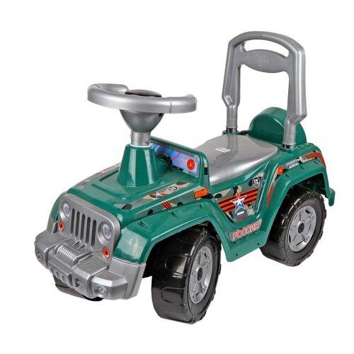 Купить Каталка-толокар Orion Toys 4 х 4 (549) со звуковыми эффектами зеленый, Каталки и качалки