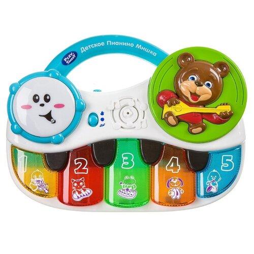 Купить Play Smart пианино Мишка 7504 разноцветный, Детские музыкальные инструменты