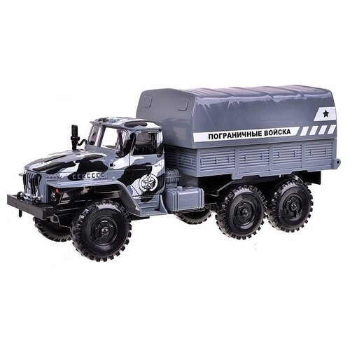 Фургон Play Smart Автопарк Урал Пограничные войска (9464E) 25 см серый грузовик play smart автопарк урал аварийная служба 9464a 25 см оранжевый